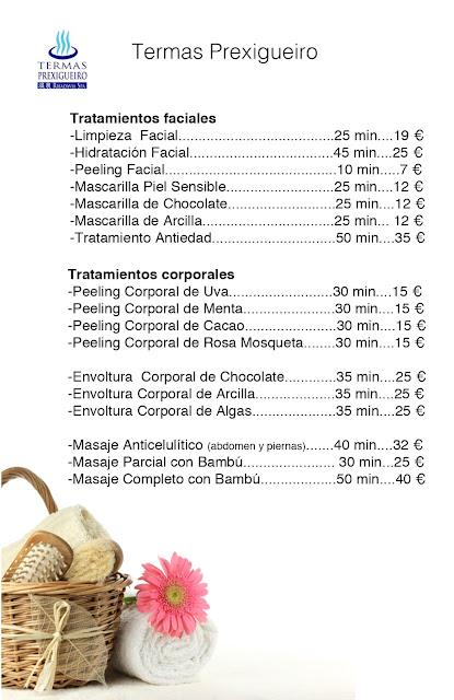 Tratamientos faciales y corporales, Termas Prexigueiro, Ribadavia Spa