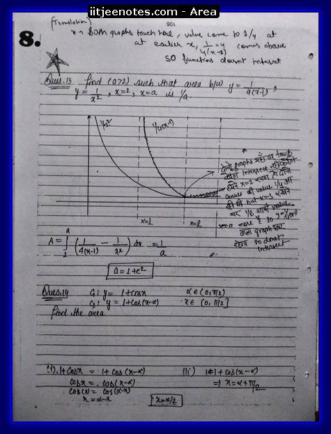 area under curve notes1