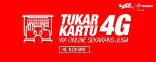 Upgrade Kartu 4G Telkomsel