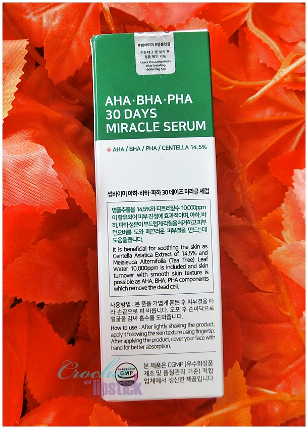 Some By Mi AHA BHA PHA 30 Days Miracle Serum Description