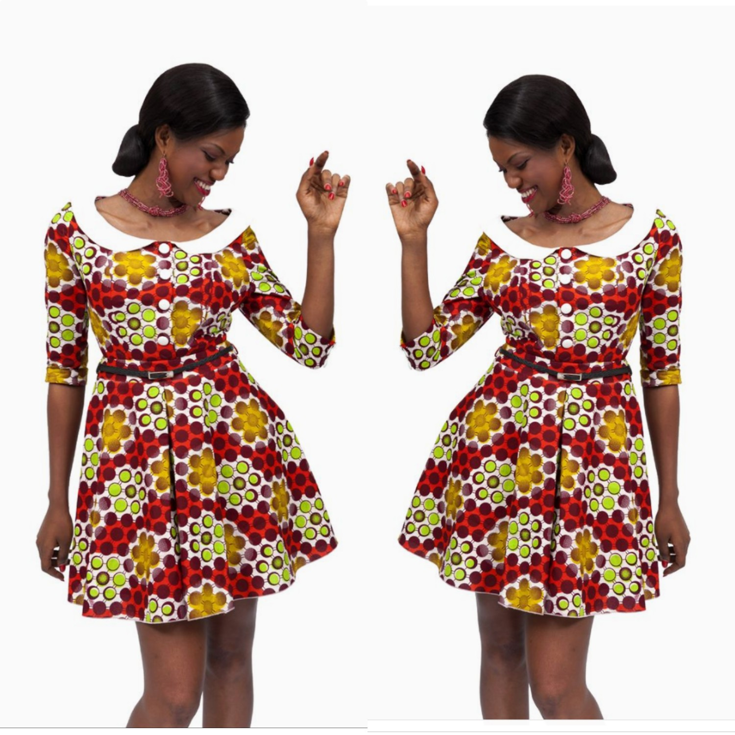 Short Kitenge Dresses Great Colors & Designs