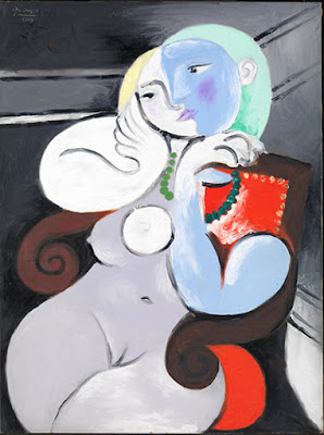 Piacasso - Nude woman in a red armchair,1932.