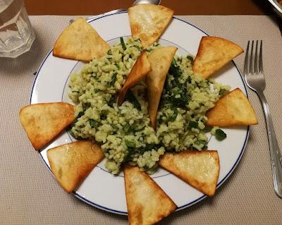 Receta de Ensalada de arroz con guacamole