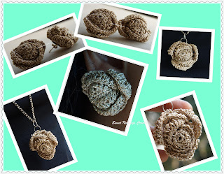free crochet ear ring, pendant pattern