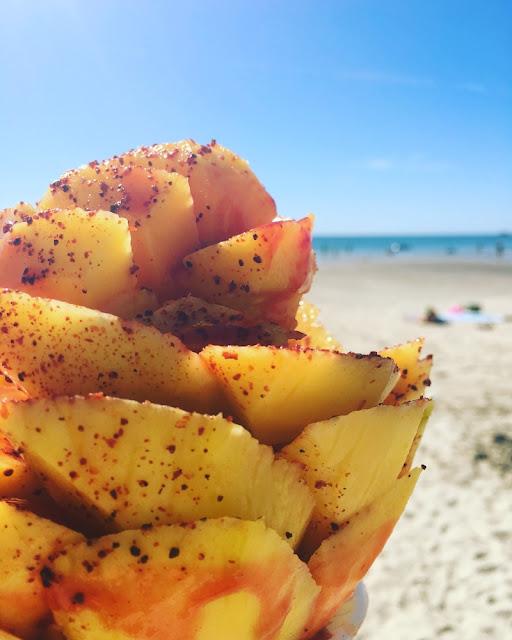 Aguachile de Camaron con Mango - Mango con Chile en Puerto Peñasco