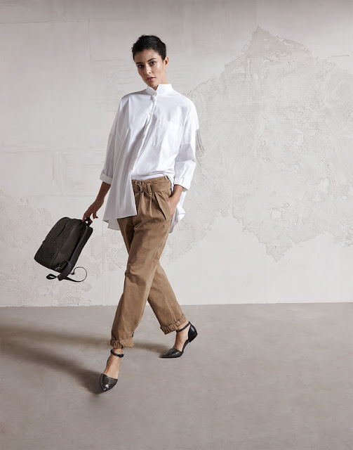 blouse and pants from Brunello Cucinelli