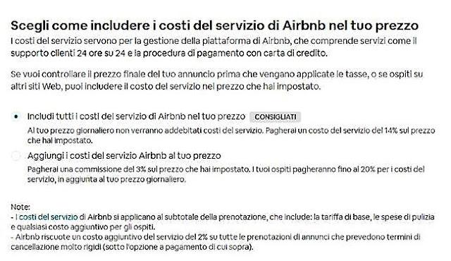 percentuale airbnb per prenotazione