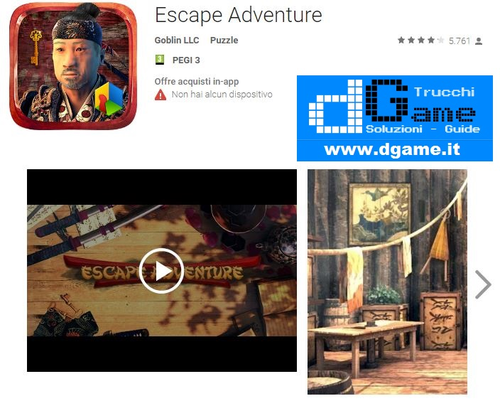 Soluzioni Escape Adventure di tutti i livelli | Walkthrough guide