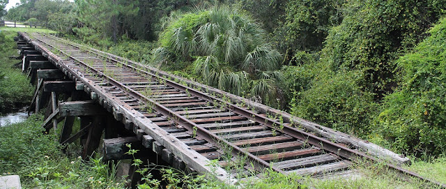 Old railroad trestle on the Legacy Trail, along Oscar Scherer State Park