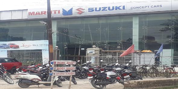 Gyan-yoag-dharmarth-trust-ki-jameen-par-bana-avaidh-maruti-car-showroom