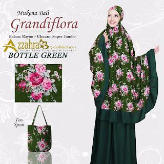 Foto untuk Mukena Bali Super Jumbo Grandiflora Bottle Green