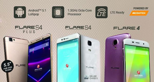 Cherry Mobile Flare 4, S4 and S4 Plus