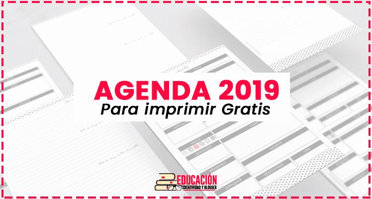 Agenda 2019 para imprimir en PDF gratis