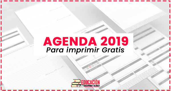 ▷ Agenda 2019 para imprimir en PDF【Descargar Gratis】