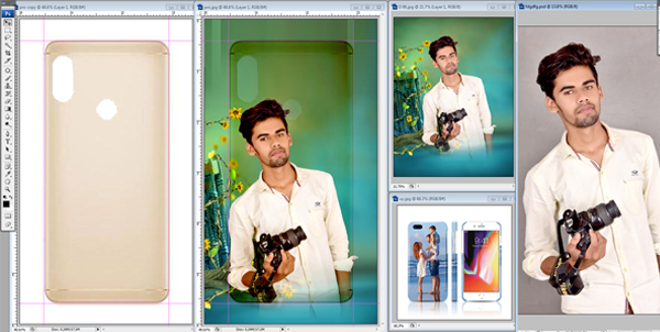 How To Make Mobil Cover Photo Design Photoshop