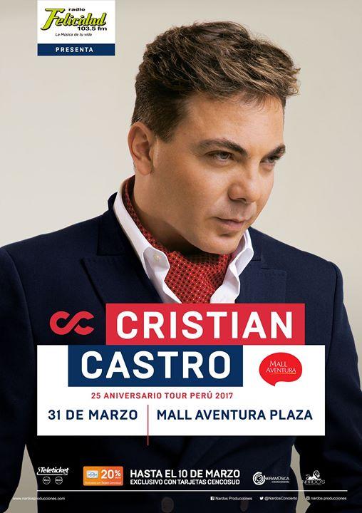 Cristian Castro en Arequipa - 31 de marzo