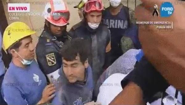 Surge héroe en tragedia del Colegio Enrique Rébsamen