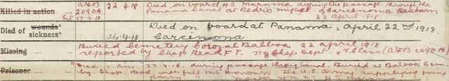"""New Zealand, """"WW1 Army Service file for Charles Thomas Walter McKinlay, 63390,"""" History Sheet; digital images, Department of Internal Affairs, New Zealand, Archives New Zealand(http://archives.govt.nz/ : accessed 21 Jan 2018)."""