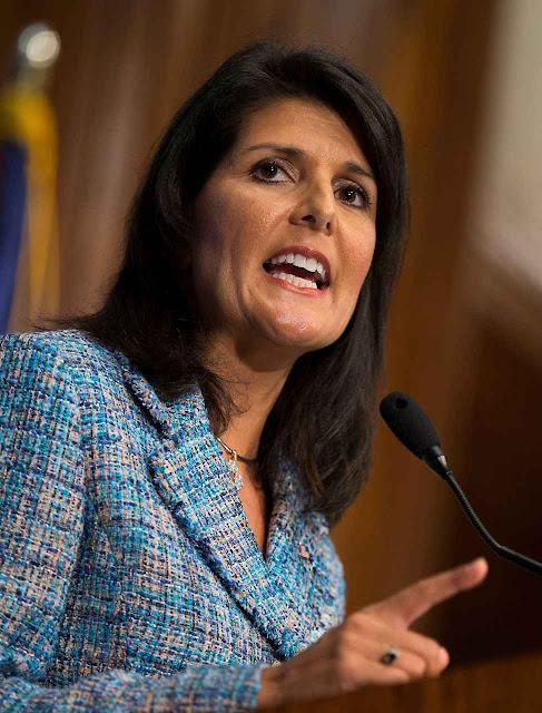 Nikki Haley, flamante embaixadora na ONU reafirmou que os EUA manterão as sanções à Rússia.