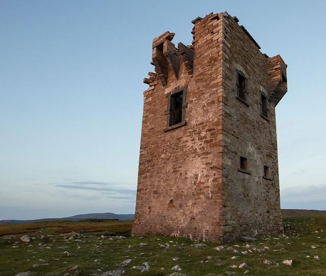 Glen Head martello tower in Glencolmcille in Co. Donegal.