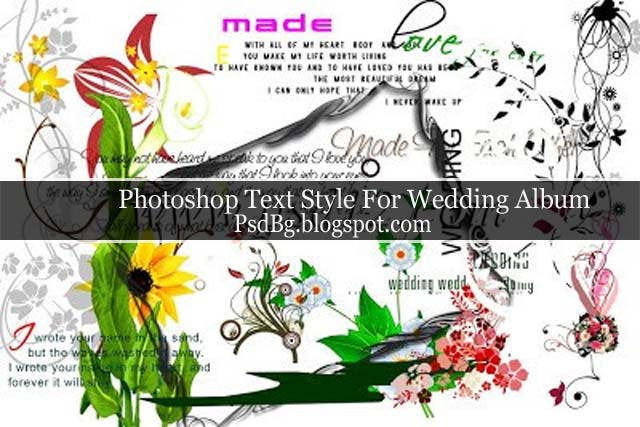 Photoshop Text Style For Wedding Album