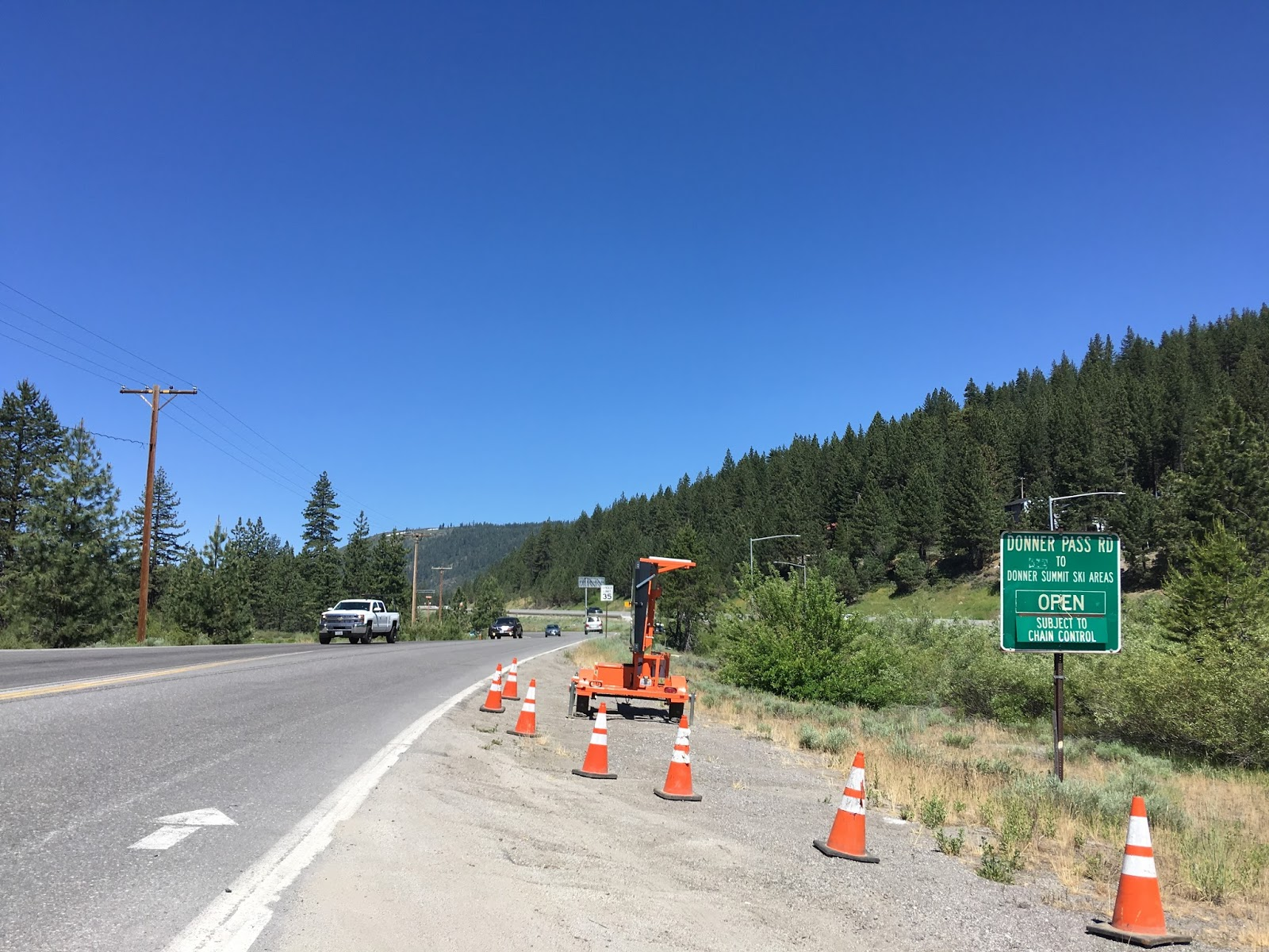 donner pass road runs along the north bank of donner lake donner lake is the location where the donner party camped during the winter of 1846 47 and there