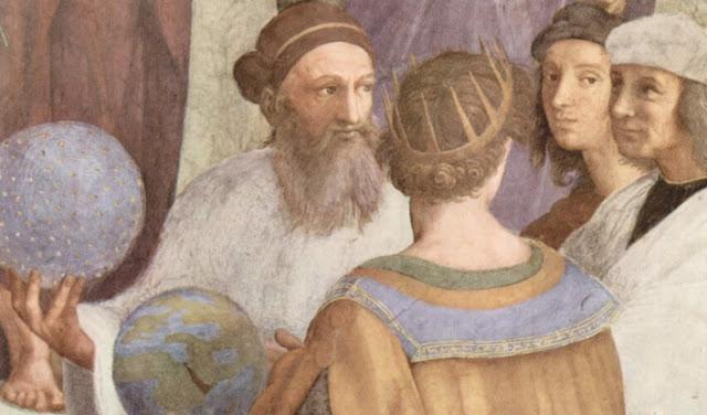 Raffaello Sanzio - Detalle de La escuela de Atenas - 1509-10