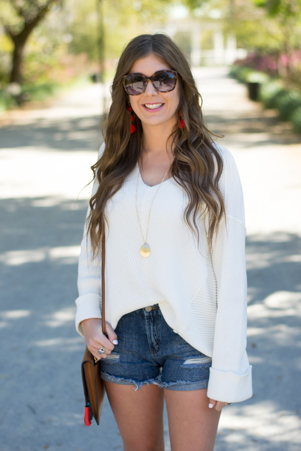 The White Sweater I Can't Stop Wearing by Charleston fashion blogger Kelsey of Chasing Cinderella