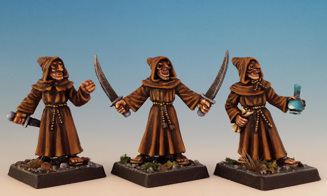 Evil Acolytes III, Otherworld Miniatures (sculpted by Kev Adams, 2011)