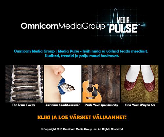 omd eesti leiunurk omnicom media group media pulse. Black Bedroom Furniture Sets. Home Design Ideas