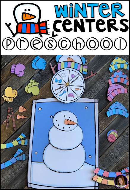 Are you looking for winter themed activities during the busy winter months?   Then you will love our  on our January Centers for Preschool.  Each activity will keep your kids busy, while building important academic skills.