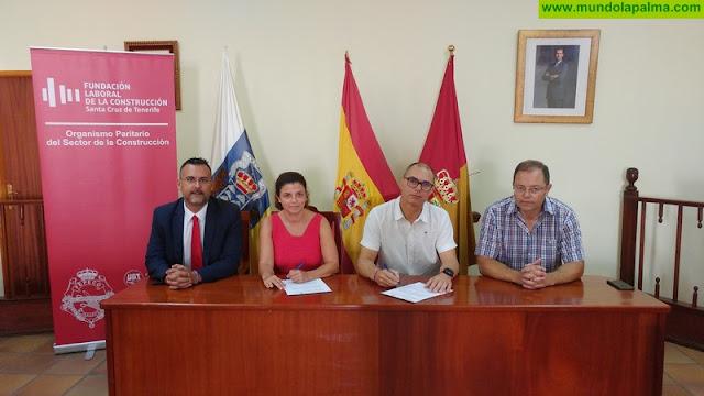 El Ayuntamiento de Villa de Mazo y la Fundación Laboral de la Construcción impulsan la formación del sector en La Palma