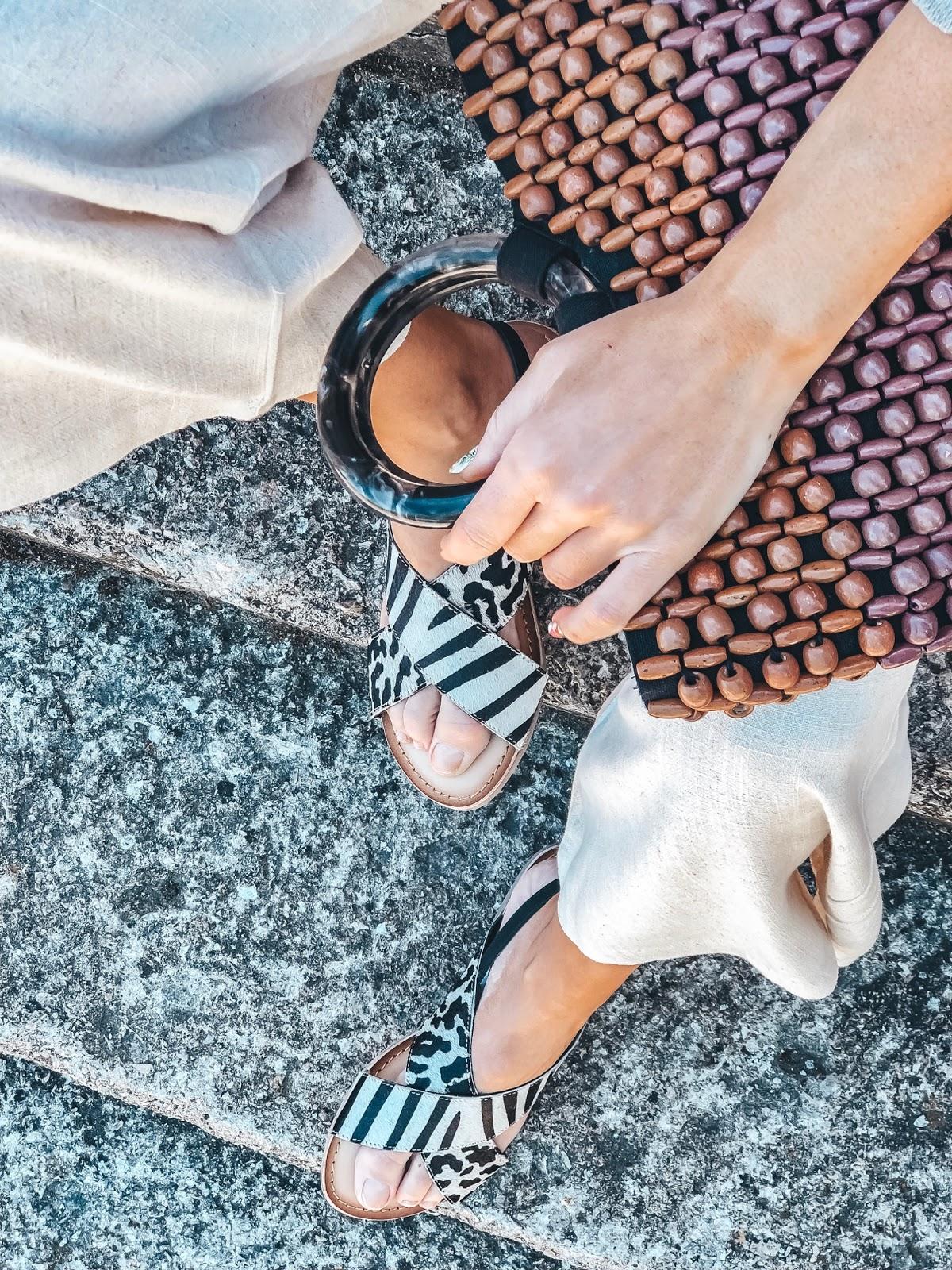 sandalias estampado zebra