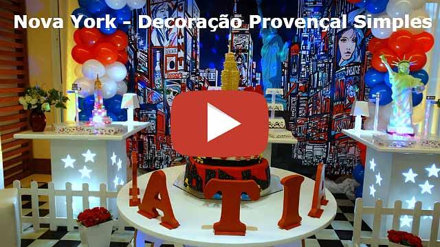 Vídeo decoração de festa tema Nova York