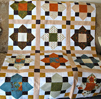 Sashed blocks of quilt