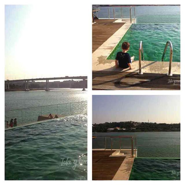 La piscina de la Pousada de Oporto