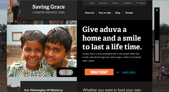 Saving Grace Wordpress Theme Free Download by WooThemes.