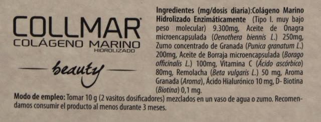 colageno marino hidrolizado ingredientes