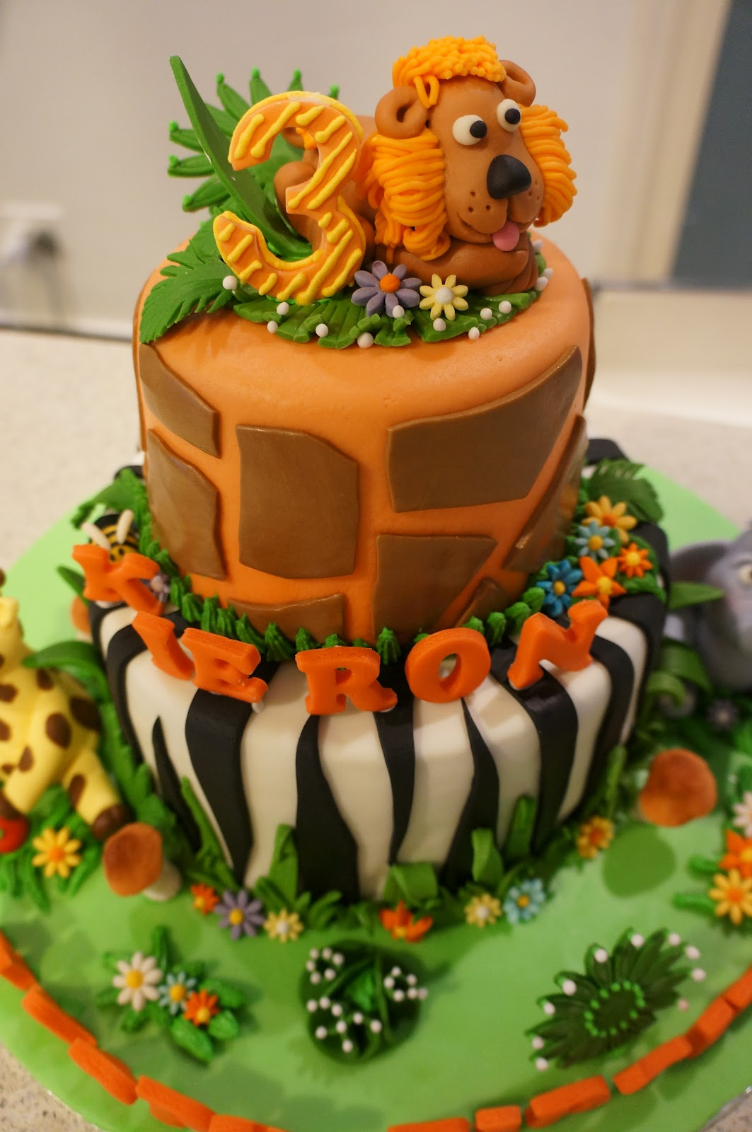 African Theme 6Th Birthday Cake - CakeCentral.com