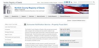 screen grab of Norfolk Deeds webpage