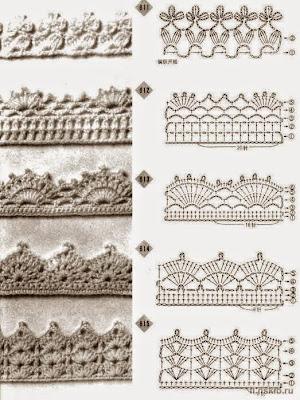 Uncinetto e crochet raccolta di pizzi all 39 uncinetto for Merletti all uncinetto schemi