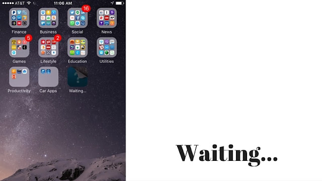 iPhone apps waiting stuck