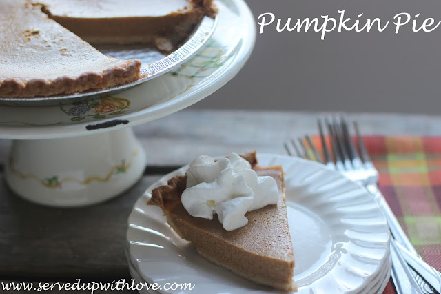 Pumpkin Pie recipe from Served Up With Love