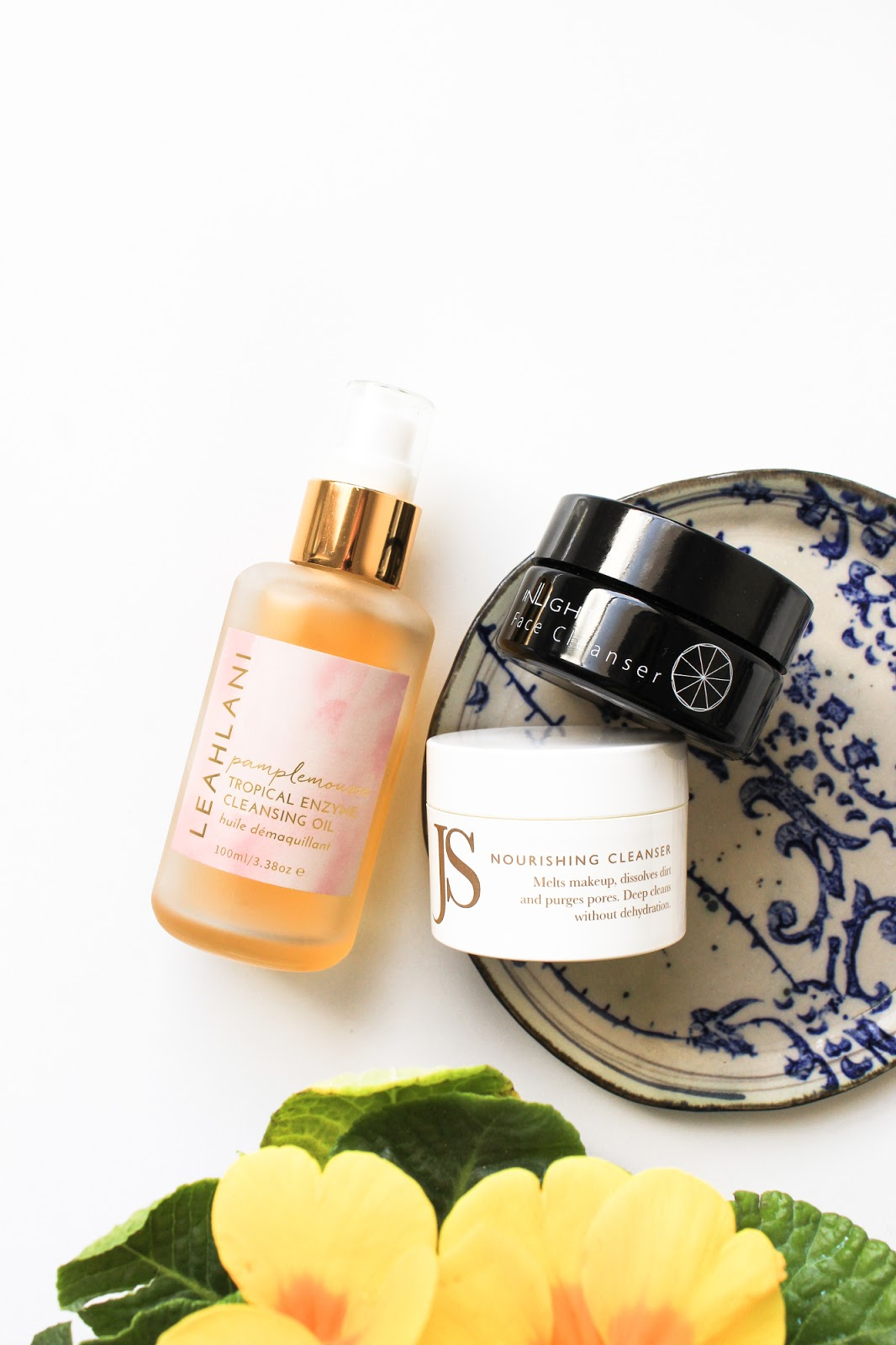 Leahlani Pamplemousse Tropical Enzyme Cleansing Oil, Inlight Beauty Face Cleanser, Jane Scrivner Nourishing Cleanser
