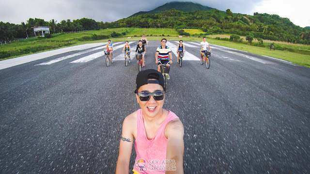 CYCLING AT BATANES BASCO AIRPORT WITH BEAUTIFUL SUNSET