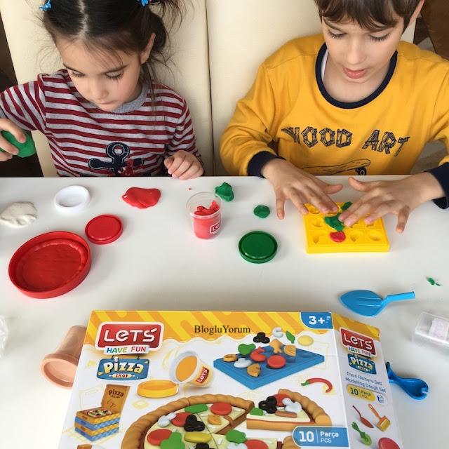 lets oyun hamuru pizzacı seti 4