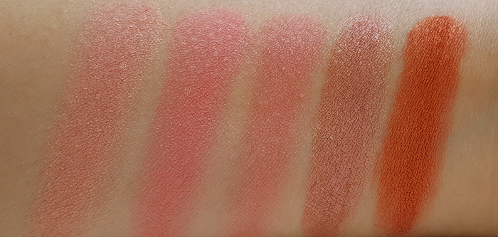 Swatches: L´Oréal Paris - Summer Makeup Launches 2017 L´Oréal Paris Infaillible Blush Paint Palette - The Ambers - Miami Sunrise, Coral Bay, Peach Fling, Amber Love, Indian Cruise