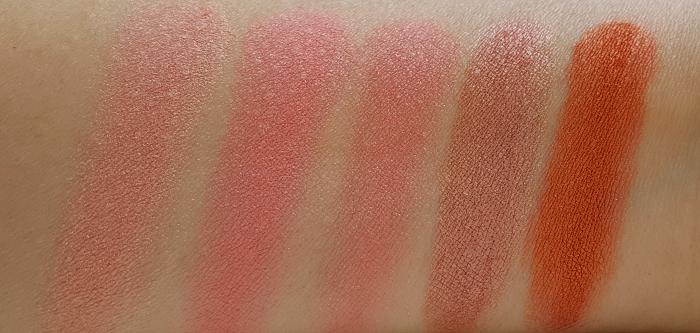 Swatches: L´Oréal Paris - Summer Makeup Launches 2017 L´Oréal Paris Infaillible Blush Paint Palette - The Ambers - Miami Sunrise, Coral Bay, Peach Fling, Amber Love, Indian Cruise