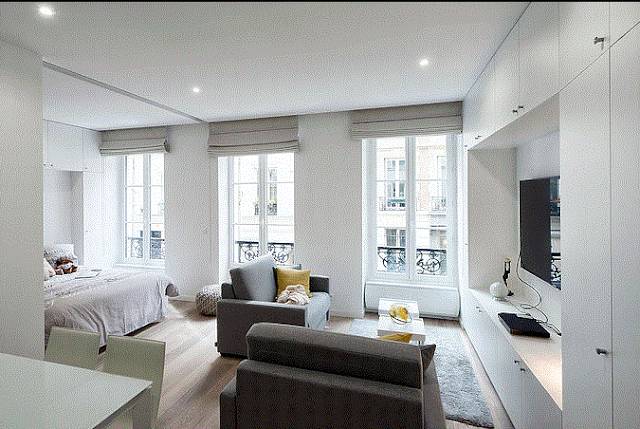 After renovation by LO-ST Agency, apartment sold by Immobilière Sainte Catherine