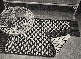 Reverse Crochet Rug Pattern, Vintage 1960s